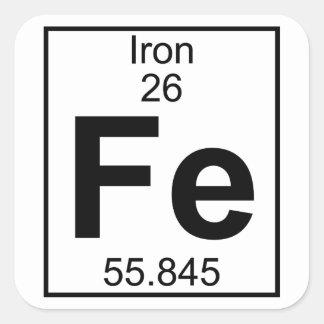 Element 026 - F.E. - Eisen (voll) Quadratischer Aufkleber