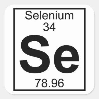 Element 034 - Se - Selen (voll) Quadratischer Aufkleber