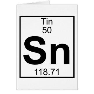 Element 050 - Sn - Zinn (voll) Grußkarte