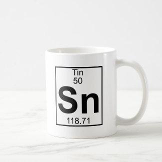 Element 050 - Sn - Zinn (voll) Tasse