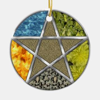 Elementare heidnische Pentagram-Pentagramm Wiccan Keramik Ornament