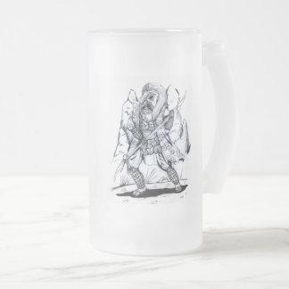 Elementare Luft-Samurais Mattglas Bierglas