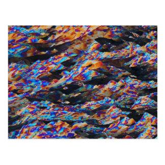 Elemente/Aluminium unter dem Mikroskop Postkarte