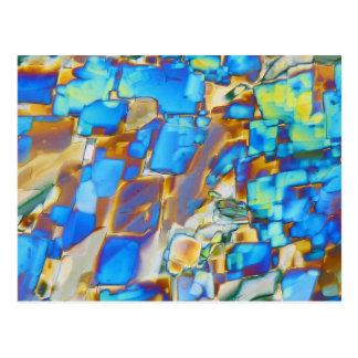 Elemente/Yttrium unter dem Mikroskop Postkarte