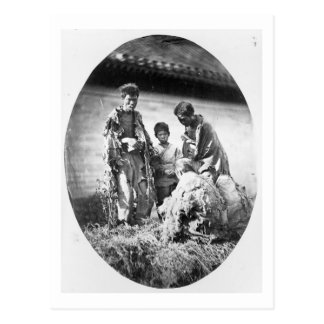 Elend in der China, c.1875 (b/w Foto) Postkarte