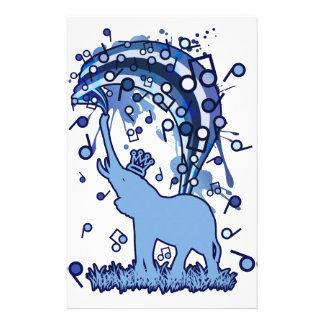 Elephant_Bathing Briefpapier