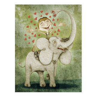Elephant. Funny, fantastic and reichen imaginative Postkarte
