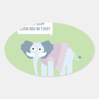 ELEPHANT.jpg Ovale Aufkleber