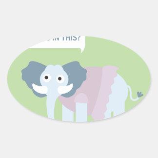 ELEPHANT.jpg Ovaler Aufkleber