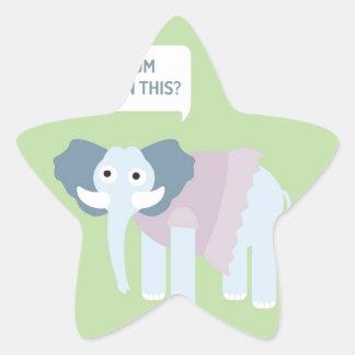 ELEPHANT.jpg Stern-Aufkleber