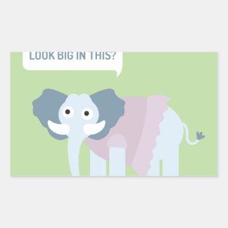 ELEPHANT.jpg Rechrteckaufkleber