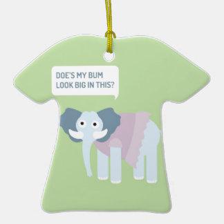 ELEPHANT.jpg Keramik T-Shirt-Ornament