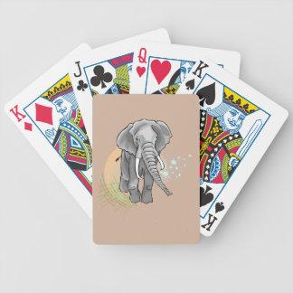 Éléphant Sur Coucher de Soleil stylisé Bicycle Spielkarten