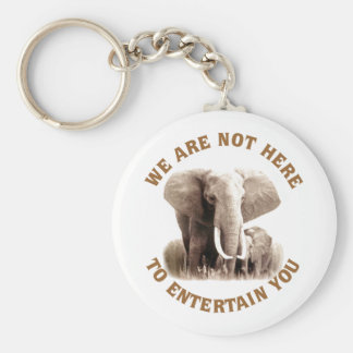 Elephats verdienen Respekt Standard Runder Schlüsselanhänger