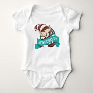 Elf-Baby - der Weihnachtsspions-Baby-Körper Baby Strampler