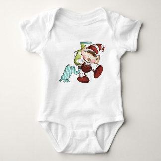 Elf-Baby - Elf mit Zahnpasta-Baby-Körper Baby Strampler