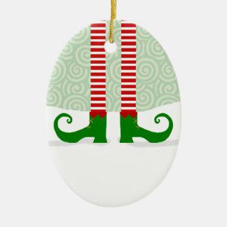 Elf-Bein-Weihnachtsverzierung Keramik Ornament