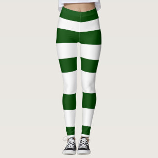 Elf-grüner weißer gestreifter leggings