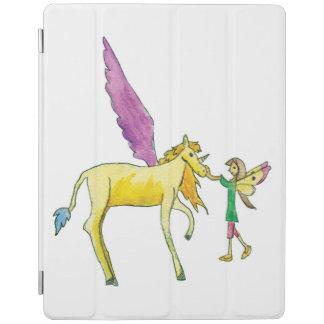 Elf mit einem gelben Alicorn Pony-Pferd iPad Hülle