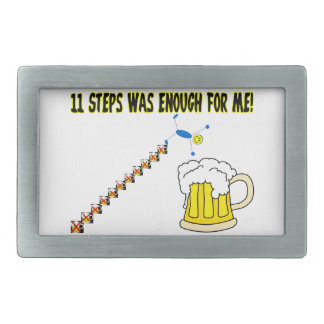 Elf Schritte waren genügend Alkoholiker Rechteckige Gürtelschnalle