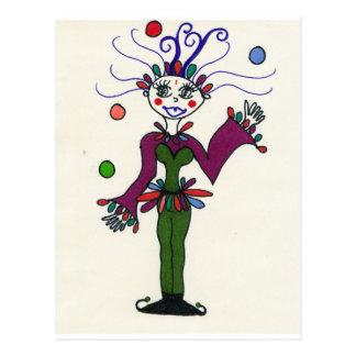 Elf-Spaßvogel-Jonglieren Postkarte