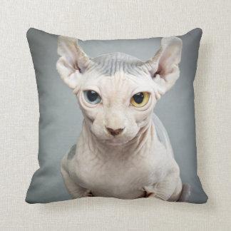 Elf-Sphinx-Katzen-Fotografie Kissen