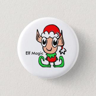 Elf-Weihnachtsmagie Runder Button 3,2 Cm