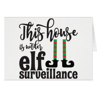 Elf-Zeichen-Weihnachtskarte Karte