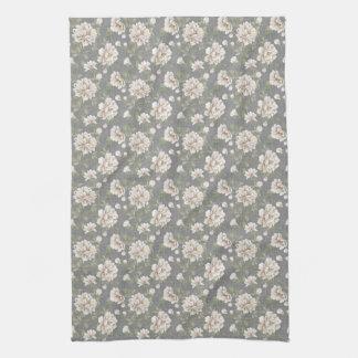Elfenbein-Blumen-Muster-Küchen-Tuch Küchentuch