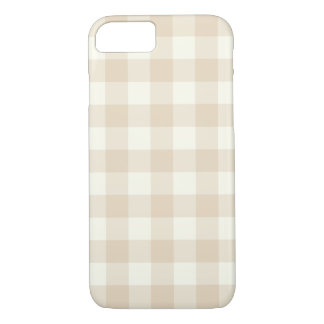 Elfenbein-Gingham-Muster iPhone 7 Fall iPhone 8/7 Hülle