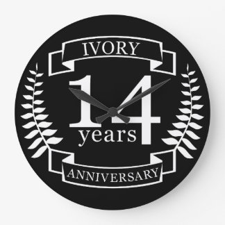 Elfenbein-Hochzeitstag 14 Jahre Wanduhren