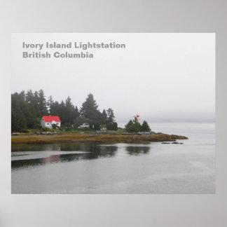 Elfenbein-Insel Lightstation Poster
