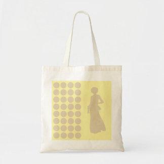 Elfenbein-neutrale Punkt-Mode-SahneSilhouette Einkaufstaschen