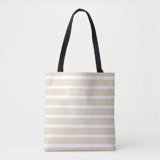 Elfenbein-Person-Streifen Tasche