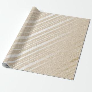 Elfenbein-Sahneempfindliche Streifen-Pastelllinien Geschenkpapierrolle