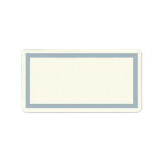 Elfenbein und blauer Leeradresseaufkleber Adressaufkleber