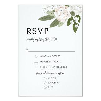 Elfenbein und erröten HochzeitSprigs, UAWG Karte