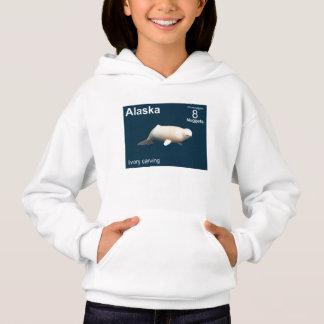 Elfenbein-Weißwal Hoodie
