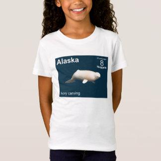Elfenbein-Weißwal T-Shirt