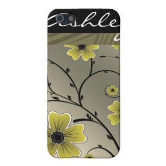 Elfenbeingelbes Blumengehäuse Iphone4 iPhone 5 Schutzhülle