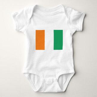 Elfenbeinküste-Flagge Baby Strampler