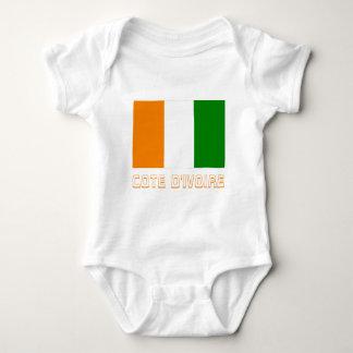 Elfenbeinküste-Flagge mit Namen Baby Strampler
