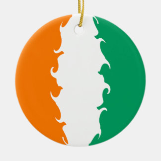 Elfenbeinküste-Gnarly Flagge Rundes Keramik Ornament
