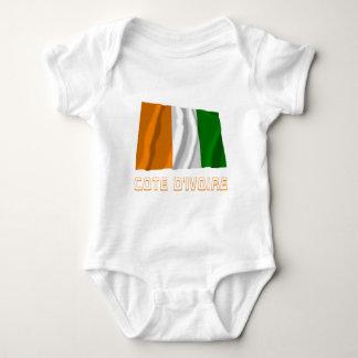 Elfenbeinküste-wellenartig bewegende Flagge mit Baby Strampler