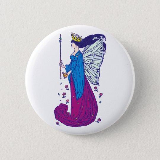Elfenkönigin Titania elf queen Runder Button 5,1 Cm
