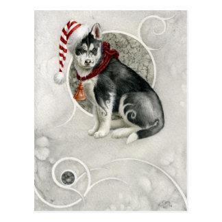 Elfique junger Hund Postkarte