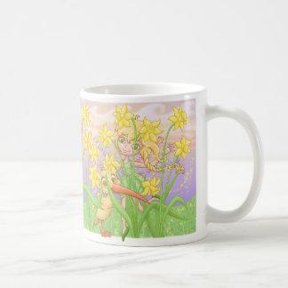 Elfleda und Kiwi in den Narzissen Kaffeetasse