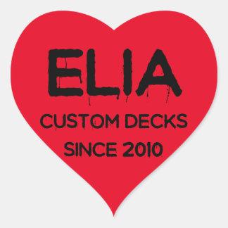 Elia Herz-Logoaufkleber Herz-Aufkleber