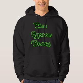 elia kundenspezifischer grüner Logo Hoodie