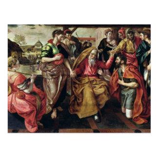 Eliezer, der damit Rebecca Isaac, 1562 fragt, Postkarte